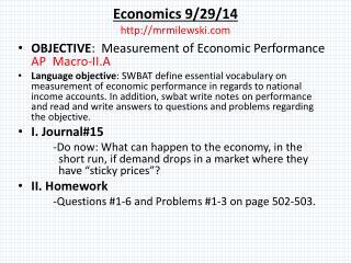 Economics 9/29/14  mrmilewski