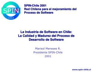 La Industria de Software en Chile: La Calidad y Madurez del Proceso de Desarrollo de Software