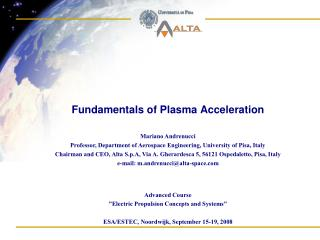Fundamentals of Plasma Acceleration