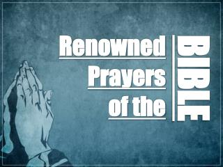 Renowned Prayers of the
