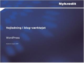 Vejledning i blog-værktøjet