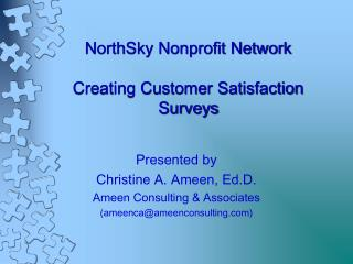 NorthSky Nonprofit Network Creating Customer Satisfaction Surveys