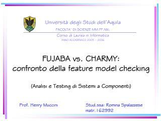Università degli Studi dell'Aquila FACOLTA' DI SCIENZE MM.FF.NN . Corso di Laurea in Informatica