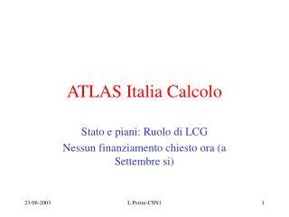 ATLAS Italia Calcolo