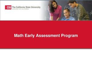 Math Early Assessment Program