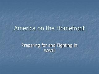 America on the Homefront