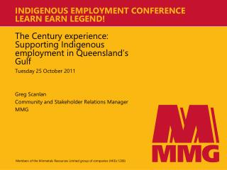 INDIGENOUS EMPLOYMENT CONFERENCE LEARN EARN LEGEND