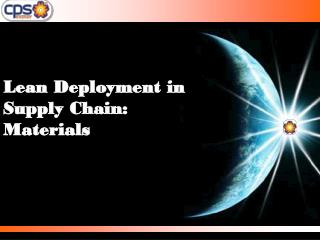 Lean Deployment in Supply Chain: Materials