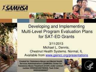Developing and Implementing  Multi-Level Program Evaluation Plans for SAT-ED Grants