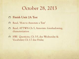 October 28, 2013