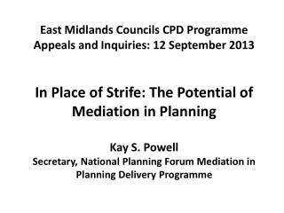 Mediation in Planning