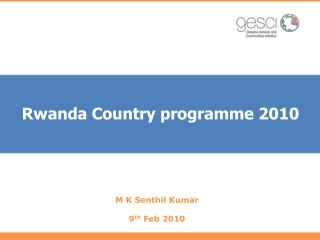Rwanda Country programme 2010