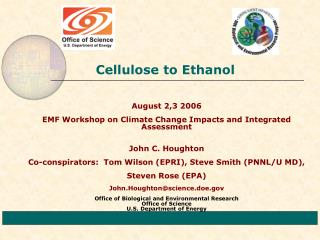 Cellulose to Ethanol
