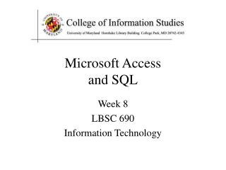 Microsoft Access and SQL