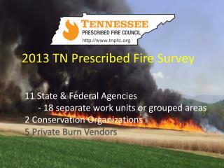 2013 TN Prescribed Fire Survey