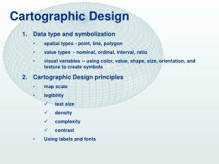 Cartographic Design
