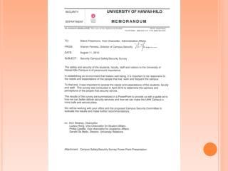 Campus Safety/Security Survey
