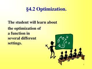 §4.2 Optimization.