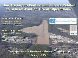 How Are Airport Context and Service Related to General Aviation Aircraft Operations?