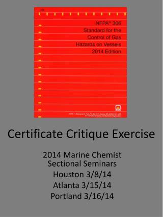 Certificate Critique Exercise