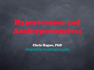 Hypertension and Antihypertensives