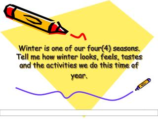 This is how we describe Winter