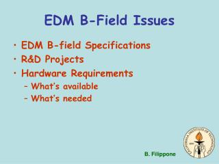 EDM B-Field Issues