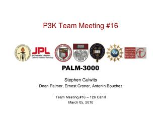 P3K Team Meeting #16