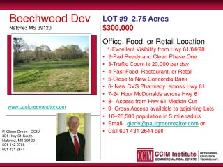 Office, Food, or Retail Location    1-Excellent Visibility from Hwy 61/84/98