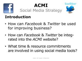 ACMI Social Media Strategy