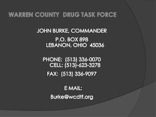 WARREN COUNTY  DRUG TASK FORCE