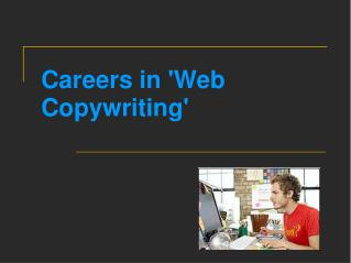 Careers in 'Web Copywriting'