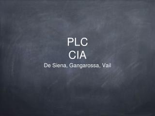 PLC CIA