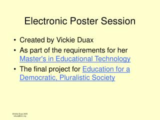Electronic Poster Session