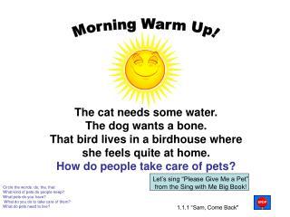Morning Warm Up!