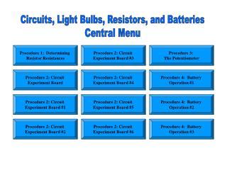 Procedure 1:  Determining  Resistor Resistances