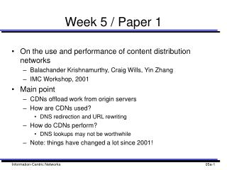Week 5 / Paper 1