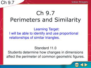 Ch 9.7 Perimeters and Similarity