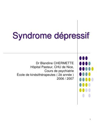Syndrome dépressif
