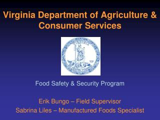 Virginia Department of Agriculture & Consumer Services