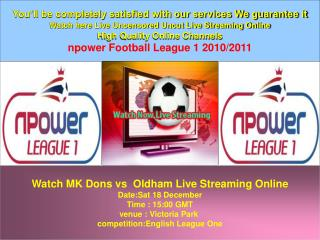 MK Dons vs  Oldham Live Online HD VIDEO TV