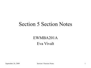 Section 5 Section Notes