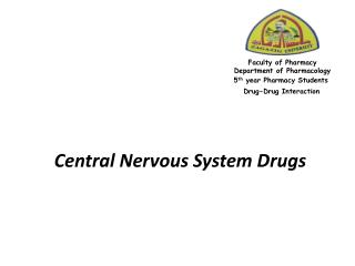 Central Nervous System Drugs