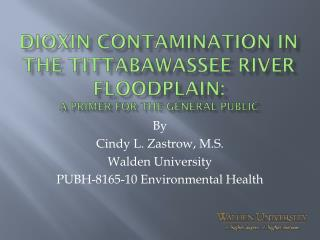 Dioxin contamination in the  tittabawassee  river floodplain:  A primer for the general public