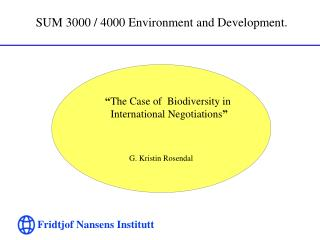 SUM 3000 / 4000 Environment and Development.