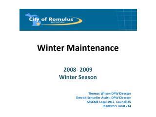 Winter Maintenance