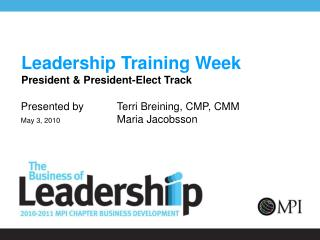 Leadership Training Week President & President-Elect Track