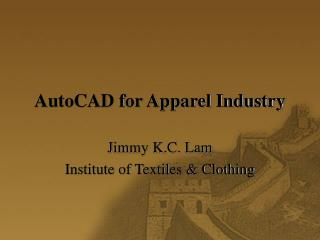 AutoCAD for Apparel Industry