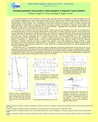 Tunneling quantistico macroscopico: effetti dissipativi in dispositivi superconduttori