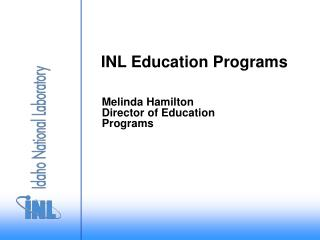 INL Education Programs